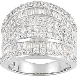 Jewelry - Womens Cocktail Band Ring White Cubic Zirconia 5ct